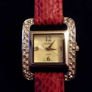 Lane Bryant red watch new with tags